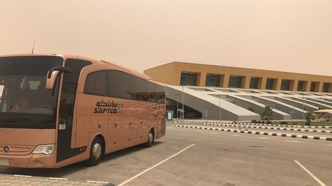 Saptco سابتكو تطلق رحلاتها من مركز النقل العام شمال الرياض