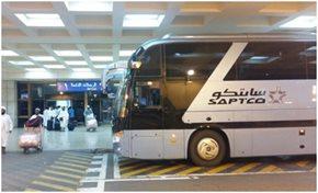 Saptco سابتكو تسي ر رحلات متواصلة بين مطار الملك عبدالعزيز والحرم المكي ومحطة كورنيش جدة